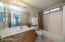 Spacious guest bathroom, maintained spotless