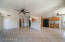 Spacious living room, tile throughout