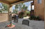 Beautiful backyard patio with guest casita. Great for cool nights and entertaining.