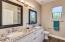 Check out the Master Bath! Double Sinks, Cool Granite, White Shaker Cabinets, Light Fixtures - Wow!