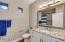 It's all in the details! Granite, Mirrors, Light Fixtures, White Shaker Cabinets, Toilets!