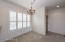 Plenty of room in this dining space / Beautiful wood shutters