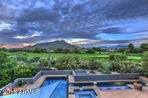 unobstructed views of golf course and Black Mountain from backyard