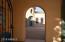 Walk through the gate into the spacious courtyard.