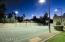 Lighted sport court