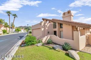Unique Biltmore Villa home with soaring ceiling and dramatic living room/kitchen/dining combination. Three bedrooms and two baths with views from every room of the small mountain just adjacent. Very private yard on quiet street. Wood floors, dramatic bath fixtures, two fountains, fireplace in Master Bedroom. Applicants must have minimum 650 FICO Score and 3 X monthly rent for gross monthly earnings. No co-signers please.