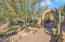 Gorgeous entrance with mature, lush desert vegetation