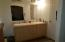 dual sinks and shower in master bath