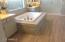 Stunning tile work in master bath