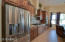 Staggered custom cabinets