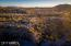 Beautiful aerial of the property in late afternoon. Its all about location, and this home, sited on the edge of the Rowe Wash bluff is a Carefree Classic!