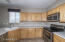 Stainless steel appliances finish off this nice kitchen