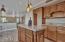 Storage added throughout kitchen island