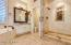 Master bath and shower.