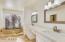 Double vanities and sunken tub