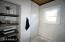 Custom wood bathroom shelving