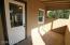 Kitchen exit to backyard