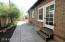 Side exit to patio area, a prefect place for gardening