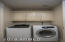 Large laundry room! Storage is excellent here!