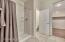 Master shower, private toilet room, Master closet.