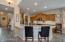 Staggered Oak Cabinetry & Blanco Perla Granite