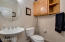 Sellers Have Added Cabinetry To This Half Bath Down. Great For Guests & Accompanies Bedroom 2 Downstairs