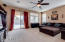 Family Room with sliding doors to patio and yard and pool