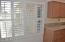 Kitchen, Plantation Shutter, Dual Pane Windows, Refaced Cabinets, Silstone Countertops