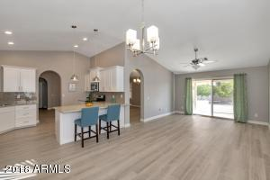 Open Kitchen, Bar, Breakfast Nook and Family Room