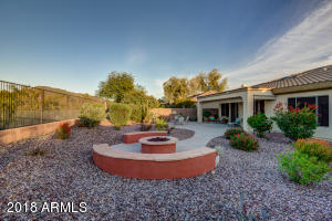 Home backs up to a wash with beautiful Arizona sunsets and a view of Daisy Mountain.