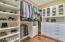 Partial view of the master closet