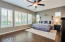 Master suite split from other bedrooms