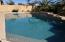 Pool with Fountain and Basketball Hoop