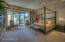 Spacious master suite with patio