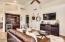 Fabulous built-in media center with bar and wine fridge
