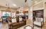 Custom interior paint throughout creates a designer touch