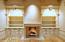 Fireplace, custom cabinets