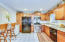 Pantry, refrigerator & gas oven