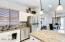 Granite counters and kitchen island