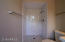 Master Bathroom with Subway Tile Surround and new everything