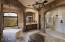The luxurious master bath offers a soaking tub, dual vanities, walk-in shower, an oversized custom closet, plus a bonus room.