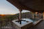 The spa and negative edge pool were strategically located to take in breathtaking 180 degree views.