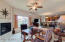 Open floorplan with views from every window and gas fireplace