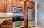 Stainless steel appliances.