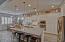 Large kitchen w/ beautiful lighting
