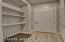 Small Interior Hallway to Garage w/ Double Interior Closet
