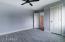 3rd bedroom with new window & ceiling fan