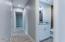 Hallway with raised 9-foot ceilings
