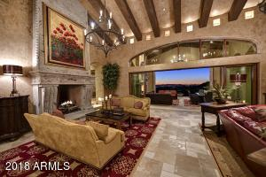 Living Room with Pocket Doors and Canterra Gas Fireplace