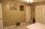 Single door goes into Master Bathroom